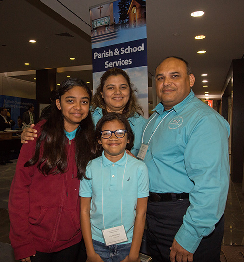 Marlon Salmeron and his wife, Marisela Munguia, brought their daughters, Sabrina Salmeron, 13, and Giselle Salmeron, 10, to the second Florida Statewide Stewardship Day, held May 4, 2019 in downtown Miami. The girls attend St. Michael School in Miami and the family are members of the parish. They also participate in Por Amor a Cristo (For the Love of Christ), a group dedicated to fostering a culture of stewardship in parishes.