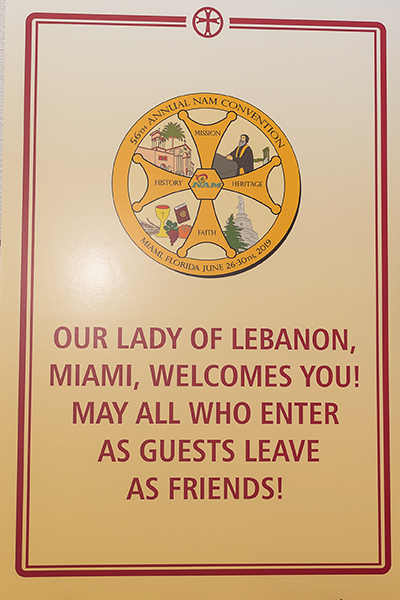 Our Lady of Lebanon Maronite Catholic parish in Miami hosted the 56th annual Maronite convention, held in Miami Beach, June 26-30.