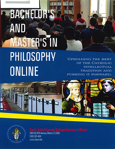 This year, St. John Vianney became the only freestanding college seminary in the U.S. to offer fully accredited online degrees in philosophy for seminarians, those in religious life, and lay people.