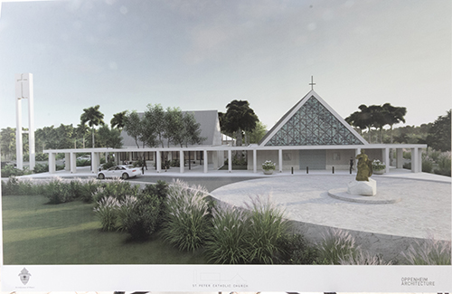 Architect's rendering of the new St. Peter Church in Big Pine Key. Construction is expected to take about a year.