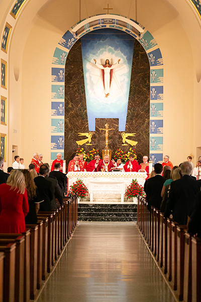 View of St. Anthony Church in Fort Lauderdale as Archbishop Thomas Wenski presides at the 30th annual Red Mass of the Broward County-based St. Thomas More Society of South Florida. Catholic judges, lawyers and other legal professionals attended the event Sept. 26.