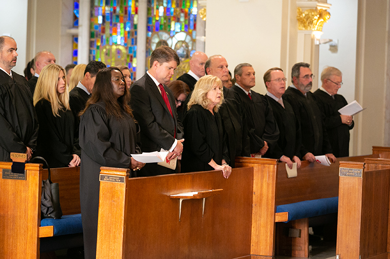 Catholic judges, lawyers and other legal professionals take part in the 30th annual Red Mass of the Broward County-based St. Thomas More Society of South Florida, Sept. 26 at St. Anthony Church in Fort Lauderdale.
