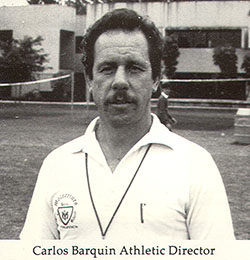 Belen Coach Carlos Barquin is seen here in a yearbook picture from the 1970s.