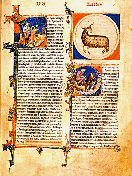 Illuminated manuscript of Alfonso X the Wise (about 1250)