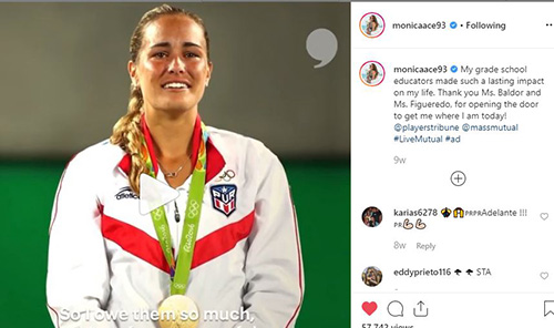 Monica Puig gave a shout-out to