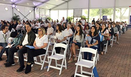 Alrededor de 400 Hermanos de Emaús participaron en la Misa realizada en el Hospital Mercy, el 22 de septiembre.