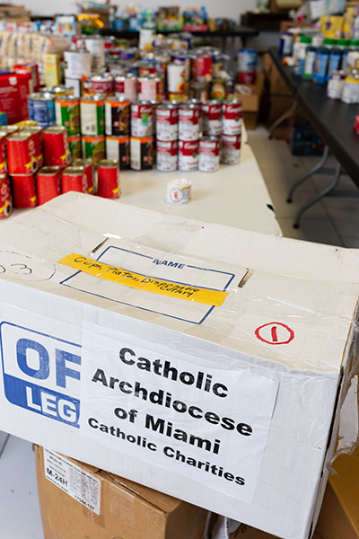 At Mary, Star of the Sea Parish in Freeport, Bahamas, donated provisions and supplies were made possible by the Archdiocese of Miami's special collection for the Bahamas, now exceeding $ 200,000. A second delivery of goods was in the works.