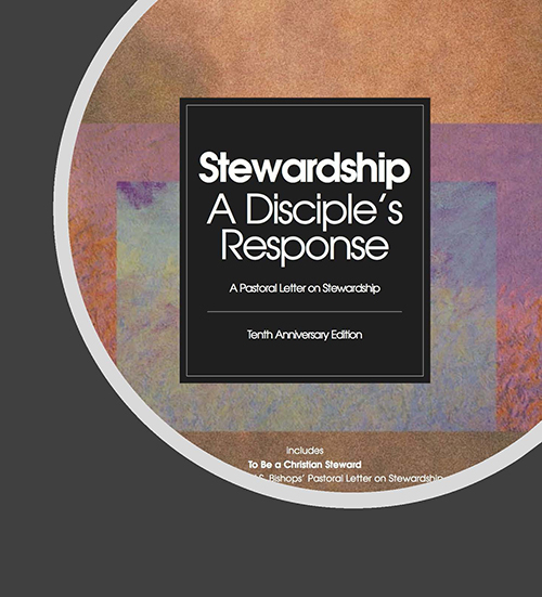 "The use of the word ""stewardship"" became popular in Catholic circles when the bishops of the United States wrote in 1992 a pastoral letter entitled, Stewardship: a Disciple's Response."