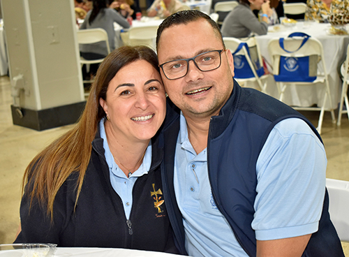 """""""Family is the most important thing,"""" said Rommel Uzcategui of Our Lady of Guadalupe Church, Doral, who attended the Catechetical Conference in Miami with his wife, Janeth."""
