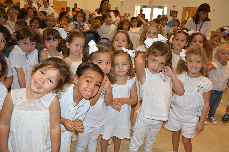 A sea of white descended on St. Agnes Academy as the school set aside one day in October as White Dress Down Day, a fundraiser for a local pregnancy center. It was one of a number of events marking Respect Life Month at the Key Biscayne school.