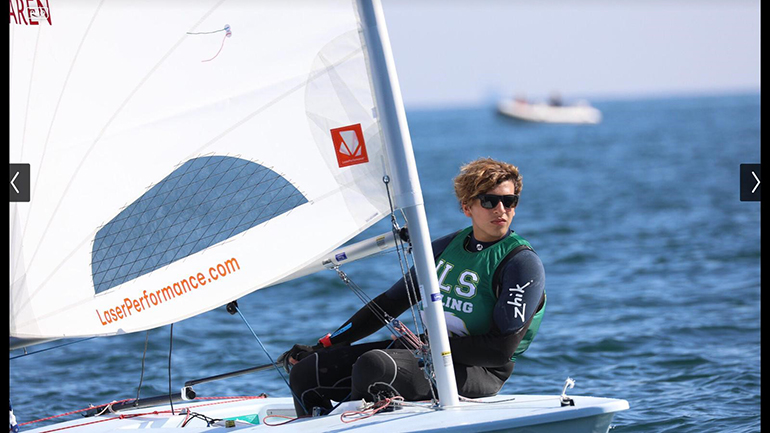 Immaculata-La Salle senior Antonio Miranda competes in the Full Rig division of the Interscholastic Sailing Association's High School Single-Handed National Championship, held Nov. 2-3 in Santa Barbara, California.