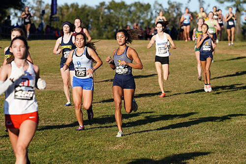 St. Thomas Aquinas' Faith Wallace (#1630) runs in the 5K cross country state championship finals, Nov. 9, 2019 in Tallahassee.