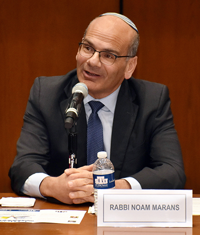 Rabbi Noam Marans, director of interfaith relations for the American Jewish Committee, takes part in a panel discussion on Vatican-Israel relations at St. Thomas University. The event honored the 25th anniversary of the Holy See's recognition of the Jewish state.