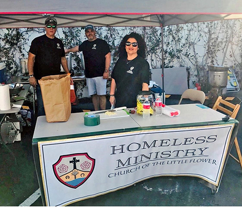 The Church of the Little Flower Homeless Ministry were the first place winners in the People's Choice category of the annual Gables Chili Fest and Cook-Off organized by the Coral Gables Knights of Columbus.
