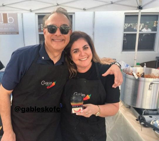 Team Fernando Cancino were the first place winners in the Judge's Choice category of the annual Gables Chili Fest and Cook-Off organized by the Coral Gables Knights of Columbus.
