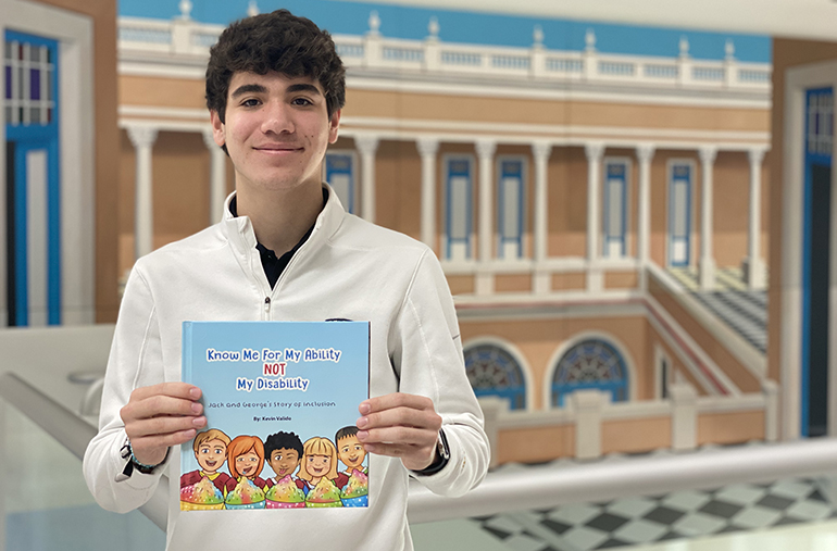 "Kevin Valido, a 17-year-old senior at Belen Jesuit Prep in Miami, has published a children's book about inclusion, entitled ""Know Me For My Ability Not My Disability."""
