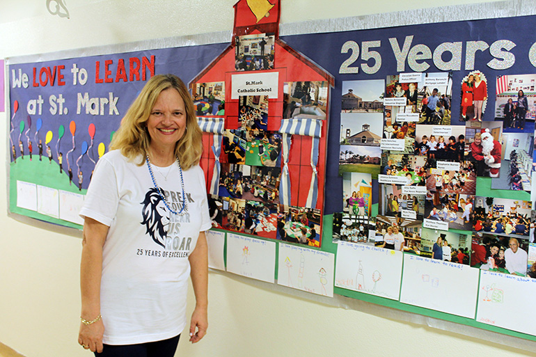 As PreK4 teacher for 24 years, Michelle Davis has helped lay the foundation of education for the smallest at St. Mark School, which is currently celebrating its 25th anniversary.