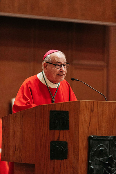 Bishop Felipe Estevez of St. Augustine was the homilist at this year's Red Mass in the Co-Cathedral of St. Thomas More in Tallahassee, at the conclusion of Catholic Days at the Capitol, Jan. 28-29. He told Catholics gathered from throughout the state that
