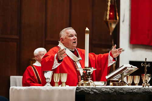 Miami Archbishop Thomas Wenski, accompanied by all of Florida's bishops, was the main celebrant of the 45th annual Red Mass of the Holy Spirit which concluded the 2020 Catholic Days at the Capitol.