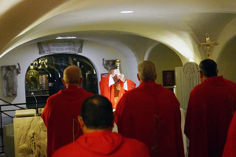 On Feb. 13, 2020, Archbishop Thomas Wenski was the main celebrant of the Mass at the tomb of St. Peter, in St. Peter's Basilica, along with the bishops and delegations from the other dioceses of Florida, Georgia, North and South Carolina.