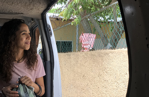 Janelle Jay, mission coordinator for Amor en Acción, outside one of her favorite mission sites in the Dominican Republic in the summer of 2019.