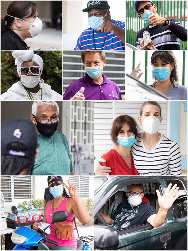 Can you see their smiles? Check out this collage of mask-covered faces photographed by Florida Catholic freelancer Tom Tracy in recent weeks.