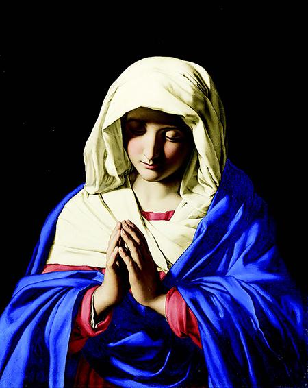 """""""La Virgen orando"""", óleo de Giovanni Battista Salvi da Sassoferrato (1609-1685)."""