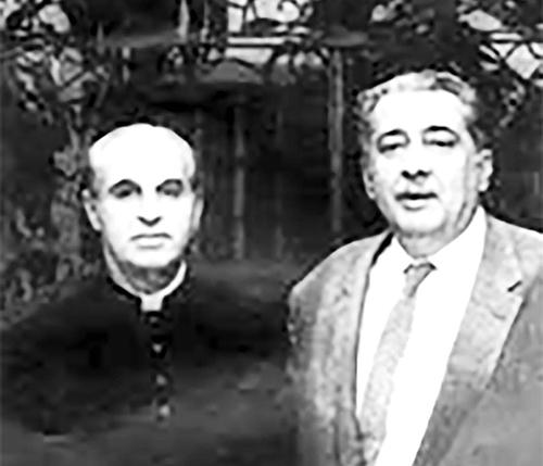 De izquierda a derecha: Ángel Gaztelu y José Lezama Lima.