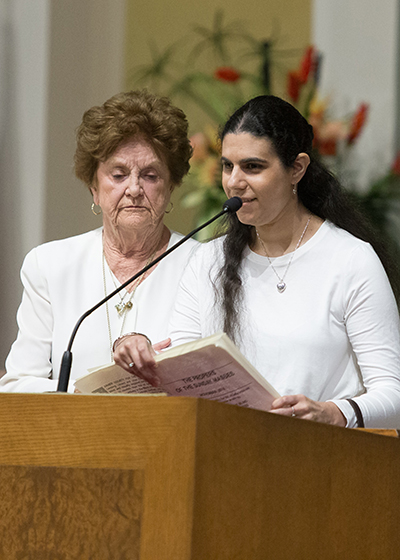 Francesca Marinaro served as a lector at the 2018 annual Mass and reception for local persons with disabilities held at St. Gabriel Parish in Pompano Beach.