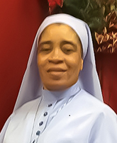 Sister Sister Nina Opara, Daughters of Mary, Mother of Mercy, marking 25 years of religious profession.
