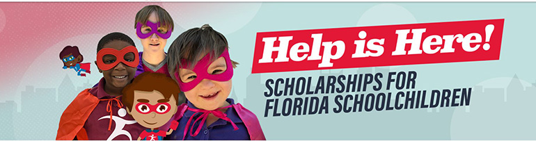 Image on the home page of Step Up for Students, one of two approved scholarship funding organizations in Florida.