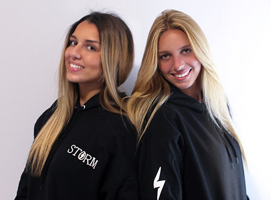 Andrea Dutkowski, left, and Alexia Menendez, both 17 and senior at Immaculata-La Salle High School in Miami, founded StormMiami, an apparel company, as juniors. They donate their profits to hurricane relief efforts in the Bahamas.
