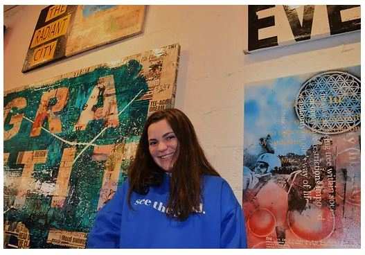 Sofia Farres, a senior at Immaculata-La Salle High School in Miami, runs See the Good, a company that features apparel and other items but also uses social-media platforms to encourage positivity and community service.