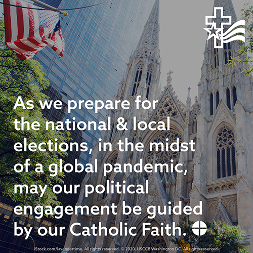 Graphic for the first day of the 2020 election novena recommended by the U.S. bishops, to be prayed from Oct. 26 through Nov. 3.