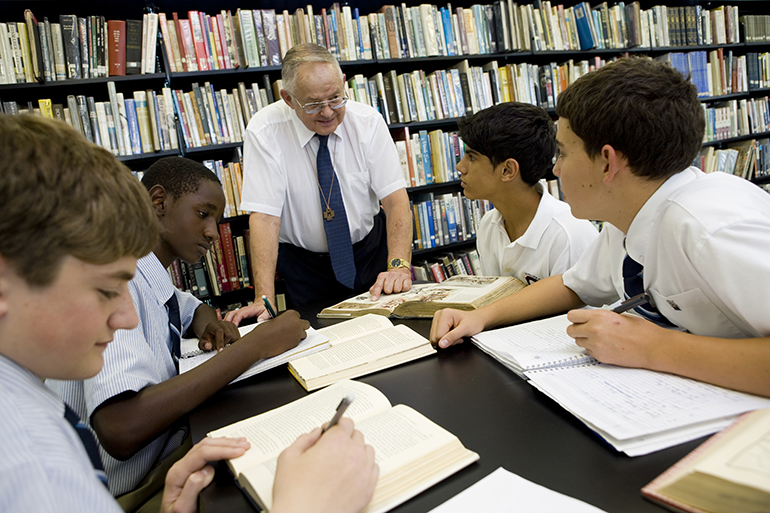Marist Brother Eugene Trzecieski was well known for mentoring thousands of Christopher Columbus High School students over his 52-year career at the school, where he served as academic dean, treasurer, and teacher of Latin, philosophy, humanities, and English.