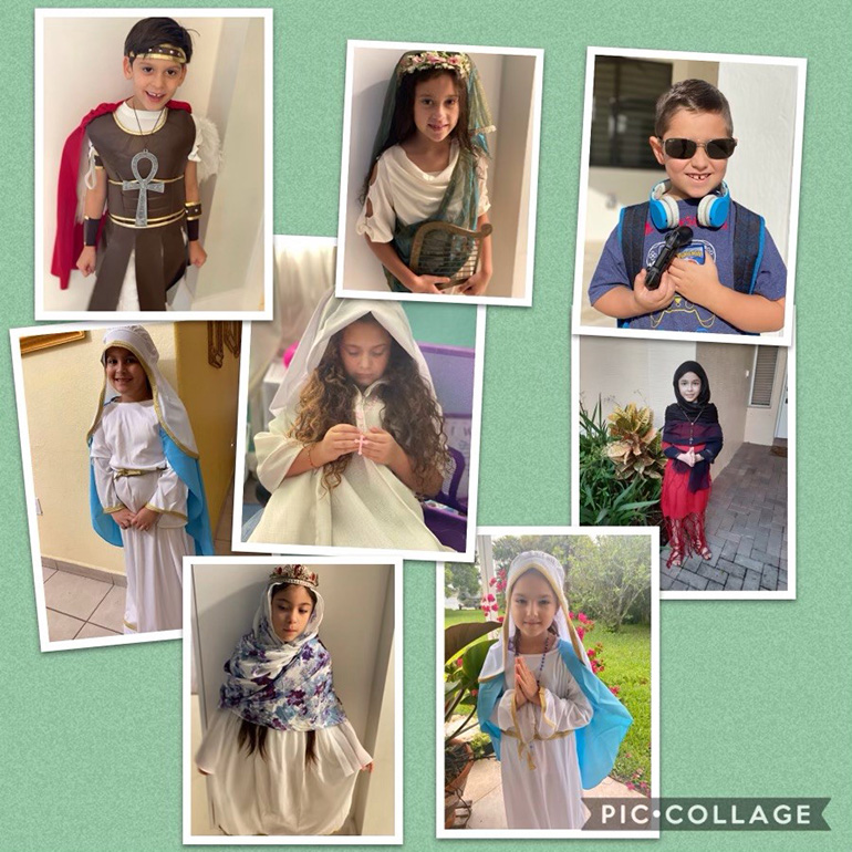 Virtual learning did not keep second graders from Mother of Our Redeemer School from taking part with their classmates in the All Saints celebration, Nov. 2, 2020.