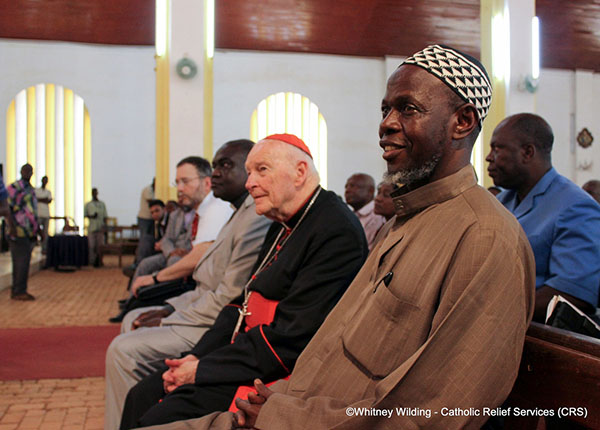 In this file photo from April 8, 2014, then-Cardinal Theodore McCarrick is shown visiting Bangui, in the Central African Republic, to discuss possible solutions to ending violence in that nation. He resigned from the College of Cardinals after it emerged in June 2018 that he had been credibly accused of sexually assaulting a minor. Allegations of serial sexual abuse of minors, seminarians, and priests soon followed, and McCarrick was laicized in February 2019.