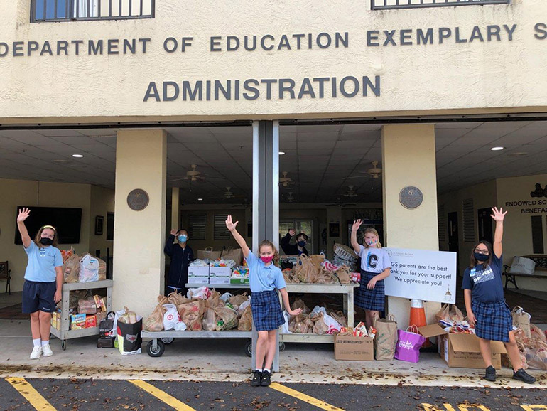 Leading up to Thanksgiving, fourth graders at St. Gregory School in Plantation spearheaded a school and parish food drive that netted more than $ 2,000 in gift cards, plus an incalculable number of food donations, for The Pantry of Broward.