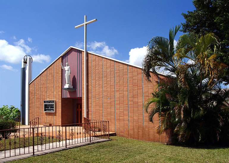 Holy Redeemer was founded in 1950, predominantly by Catholics from the Bahamas. The Liberty City parish is now the oldest black Catholic Church in the Archdiocese of Miami.