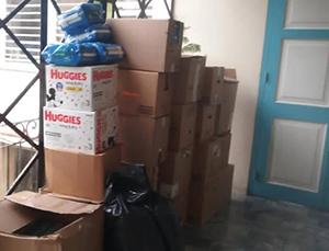 Algunos de los suministros sanitarios enviados desde Miami se ven aqui en el hogar de ancianos Santovenia en La Habana, Cuba.