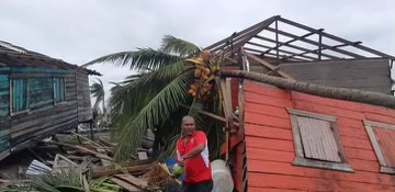 Image of some of the destruction caused by Hurricane Eta in the Diocese of Siuna, Nicaragua, provided by Father Flavio Murillo, vicar general of the diocese. Eta struck as a Category 4 storm Nov. 3, 2020. A second hurricane, Iota, struck the same area 14 days later.