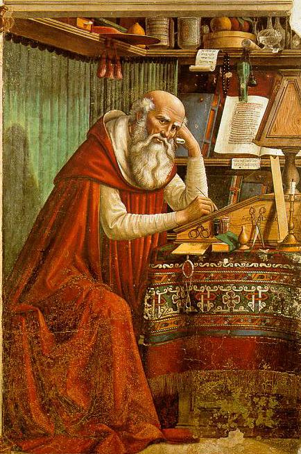 San Jerónimo en su Estudio. Domenico Ghirlandaio.