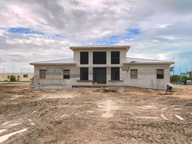 Recent photo of the new administration building at St. Francis de Sales School in Marsh Harbour, Abaco. It is scheduled to be in use by early next year.