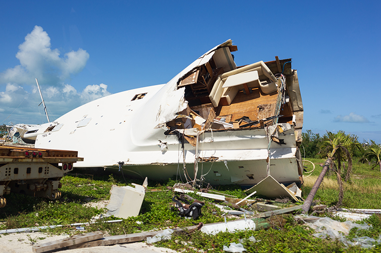 Damage was still clearly visible this February in Marsh Harbour in Abaco following 2019's Hurricane Dorian. Catholic Charities of the Archdiocese of Miami is now facilitating the disbursement of a $ 340,000 grant for rebuilding awarded by Catholic Charities USA.