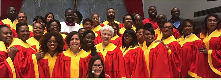 St. James Parish in North Miami received a Parish Excellence Award for Community Prayer Via Technology. Although the trilingual parish is not affluent, St. James invested in technology to bring people together for prayer during the pandemic.