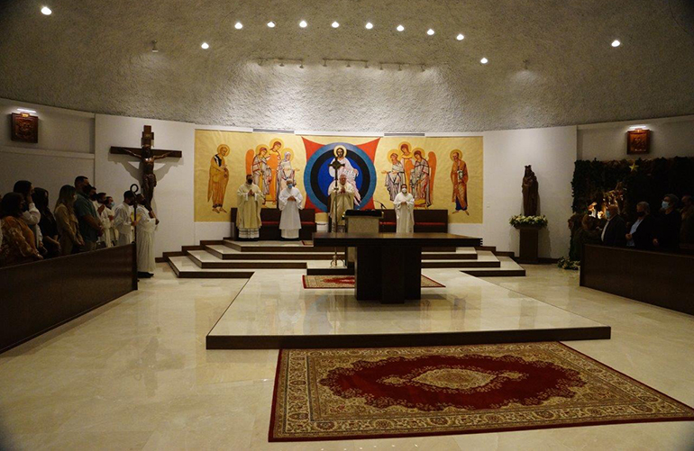 View of the newly refurbished worship space at Mother of Christ Church in Miami, which was blessed by Archbishop Thomas Wenski during a Mass Jan. 1, 2021.