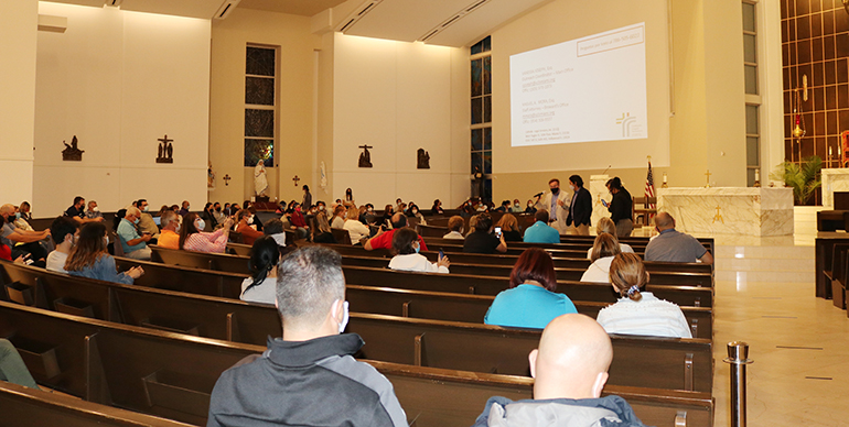 More than 100 Venezuelans attended the Jan. 27, 2021 informational session on Deferred Enforced Departure held at Our Lady of Guadalupe Church in Doral, a community with one of the largest concentrations of Venezuelans in South Florida.