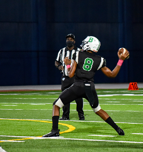 St. Brendan High sophomore Damari Charlton moved from wide receiver to signal caller this season, and threw for 1,338 yards and 20 touchdowns.