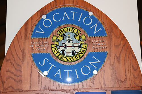 St. Gabriel Church in Pompano Beach features a Vocation Station courtesy of the Serra Club of Broward County.