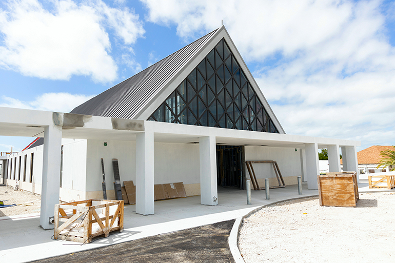 The new church under construction at St. Peter Parish in Big Pine Key in the Lower Florida Keys.